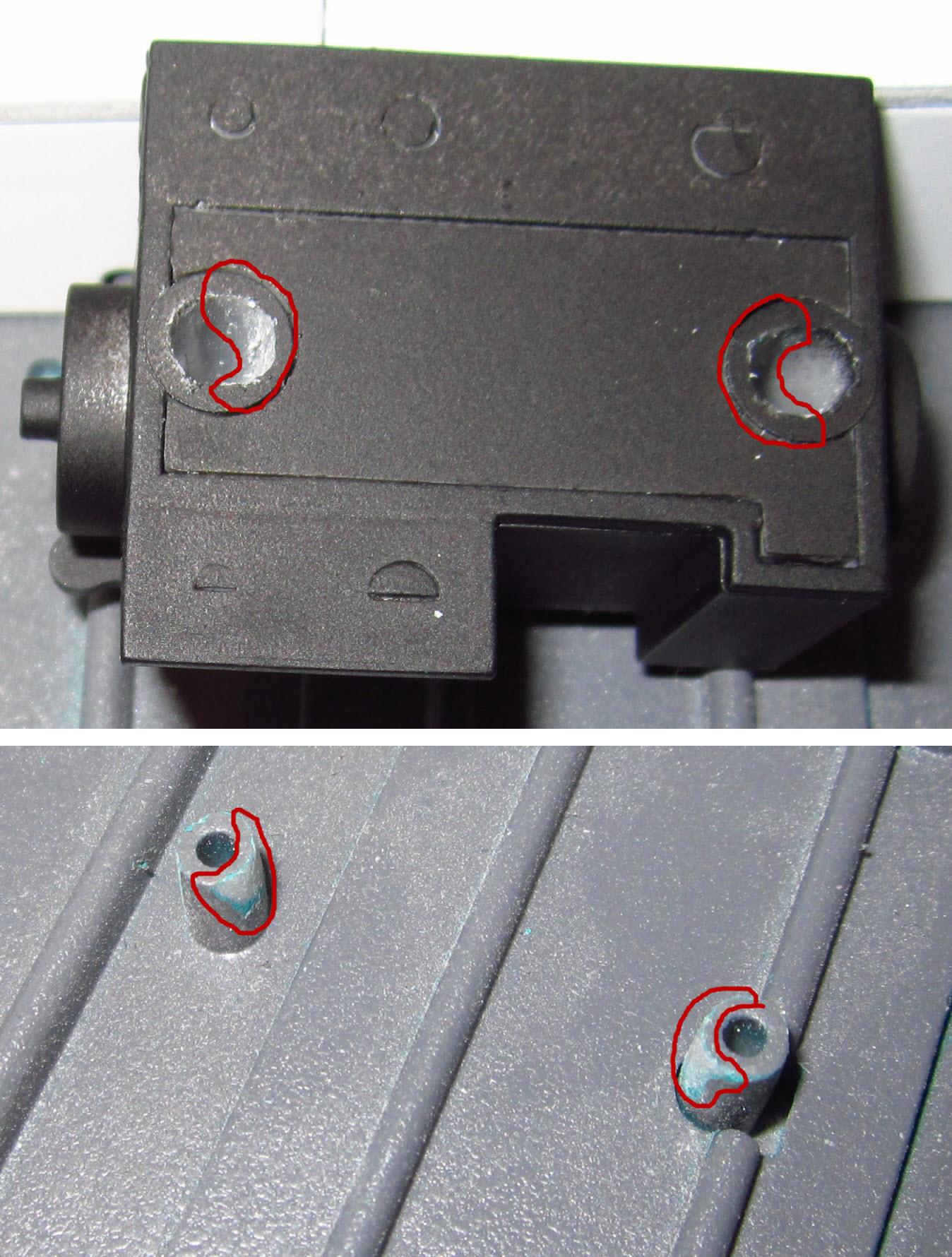 обработка отверстий и штифтов