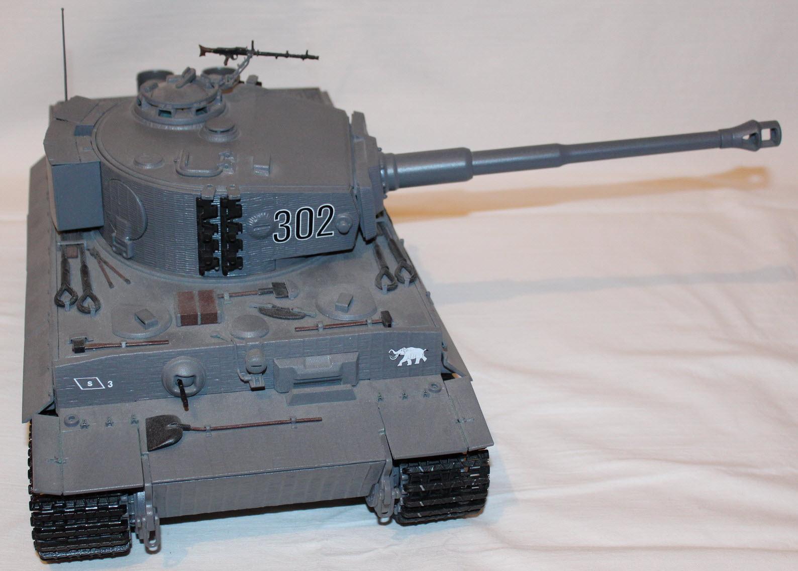 сборная модель тигра 01