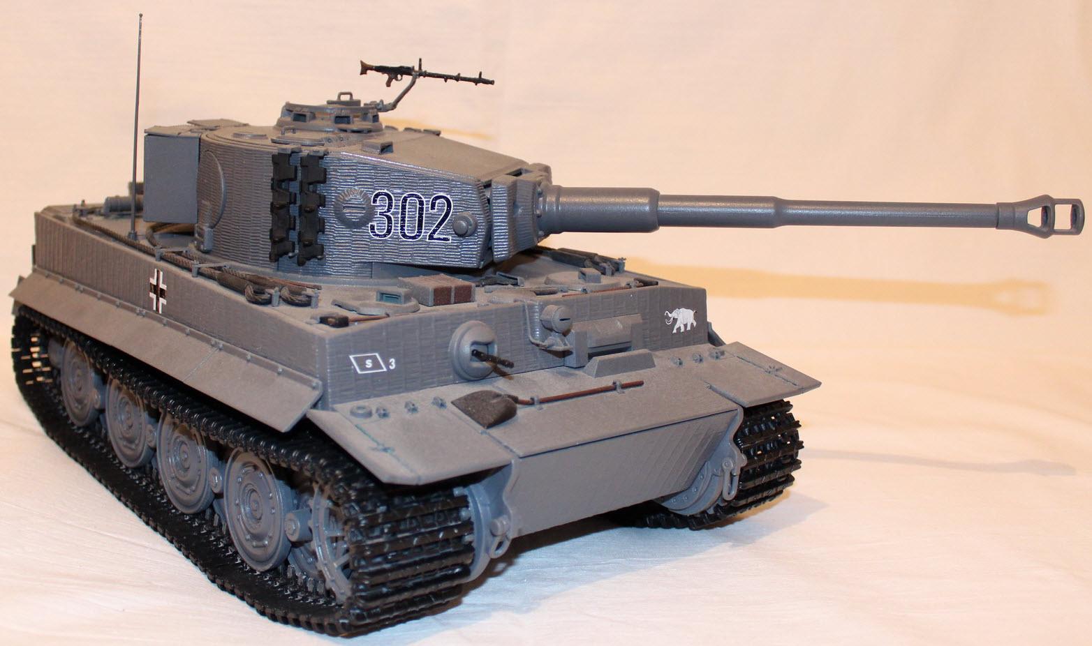 сборная модель тигра 03