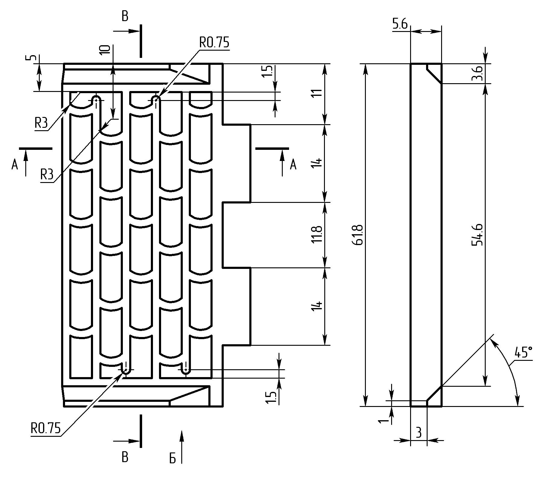 12 Решетка над вентилятором чертеж