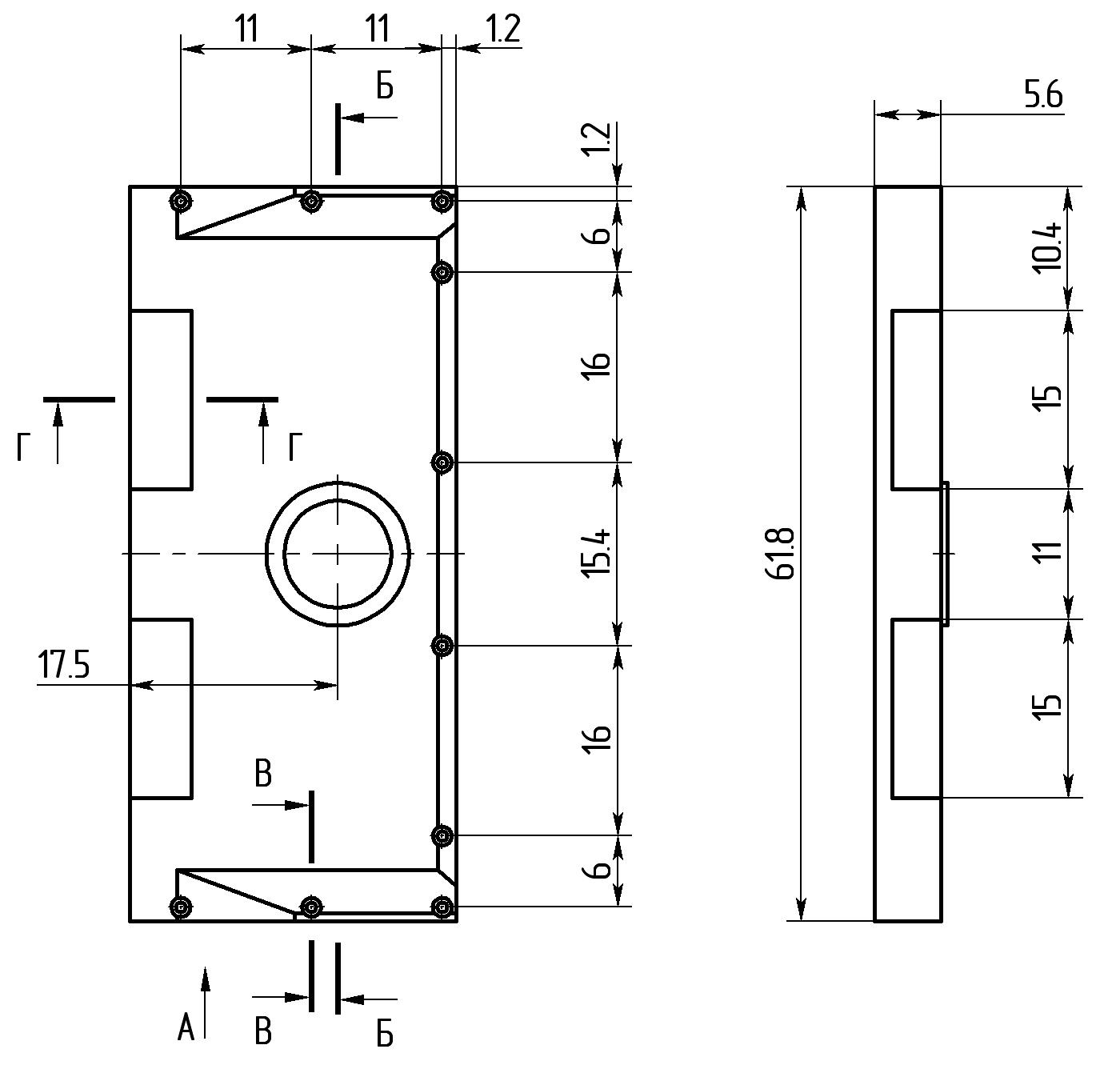 15 Плита над радиатором чертеж