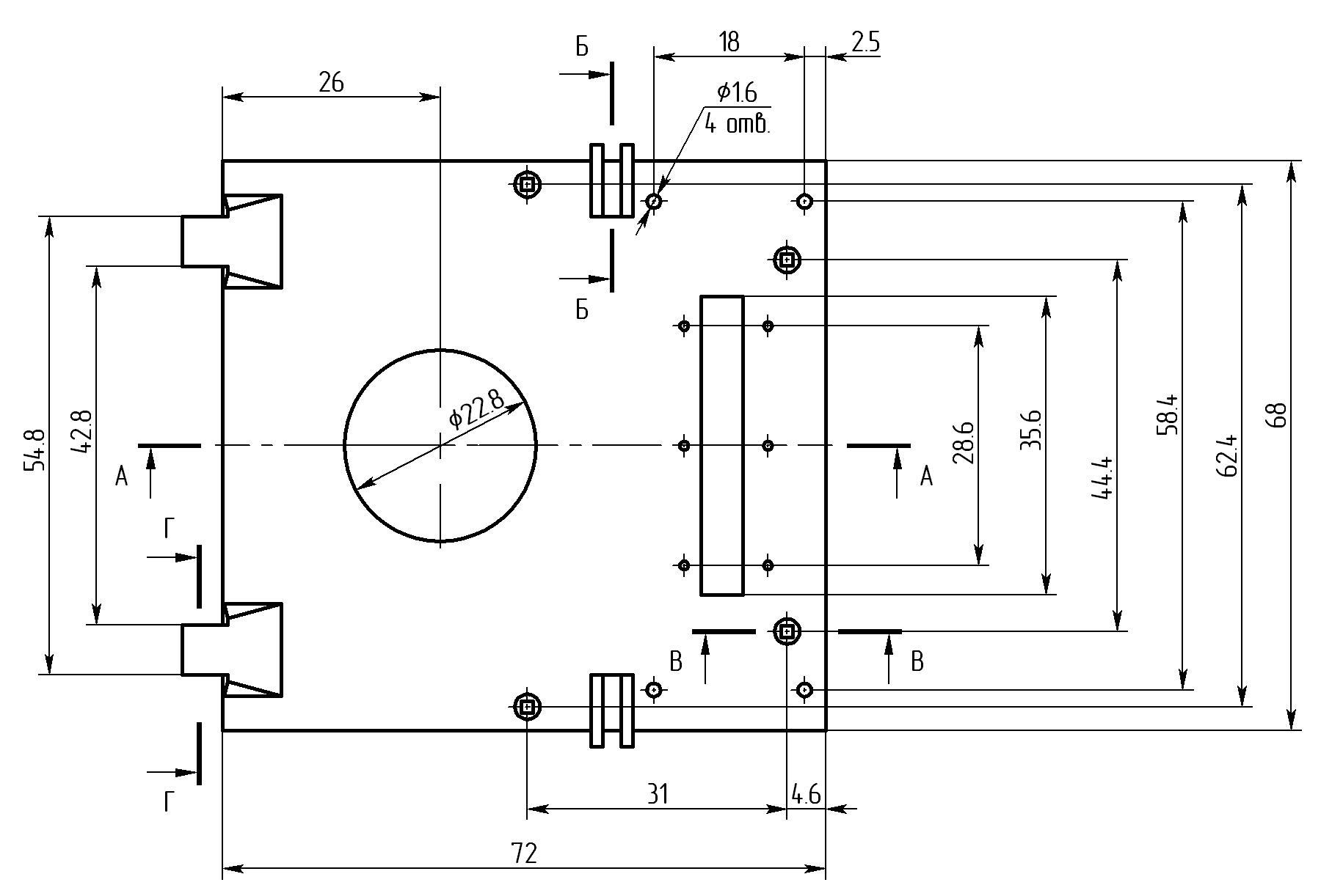 18 Крышка моторного отсека чертеж