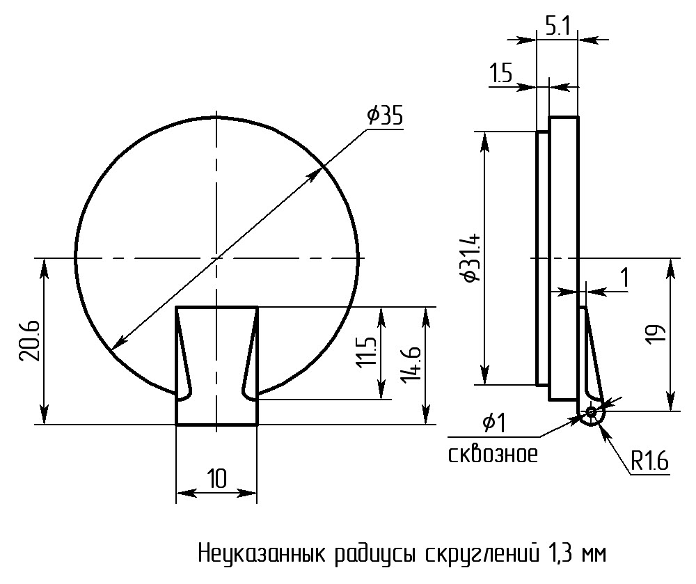 2 Аварийный люк чертеж