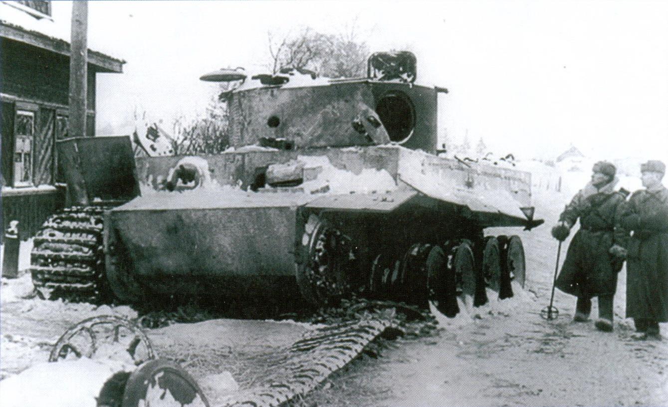 20 Подбитый в бою в России «Тигр»
