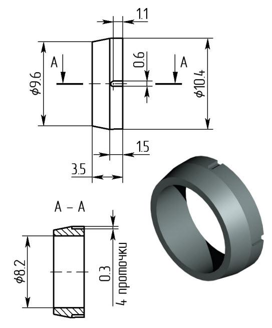4 Замковое кольцо дульного тормоза