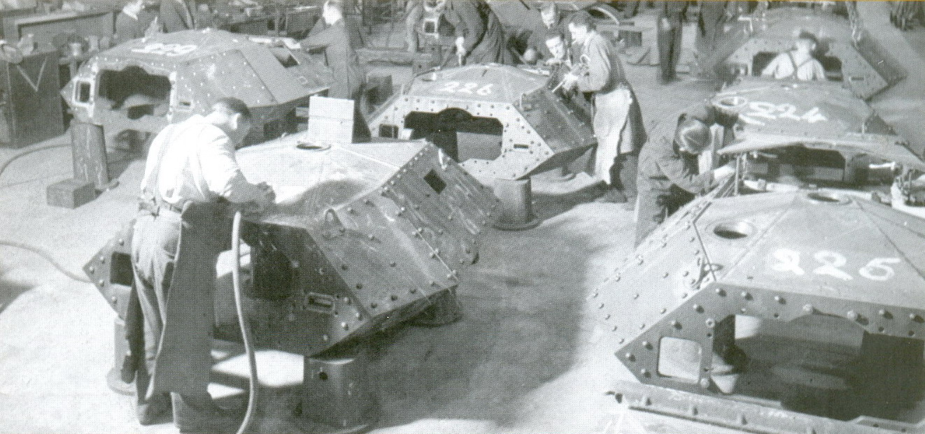 9 Производство британских танков