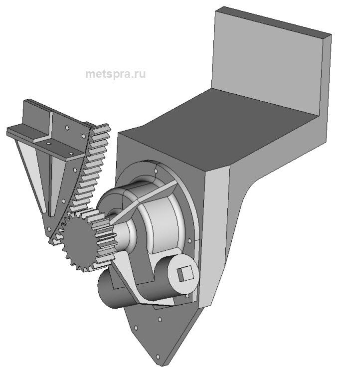 Механизм подъема орудия