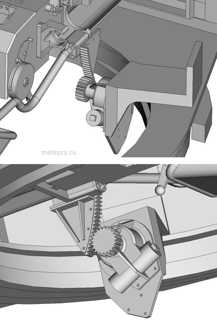 Сборка механизма подъема