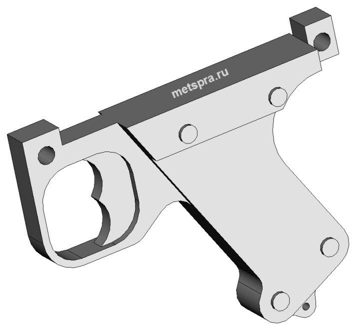 Рукоятка пистолетная изометрия