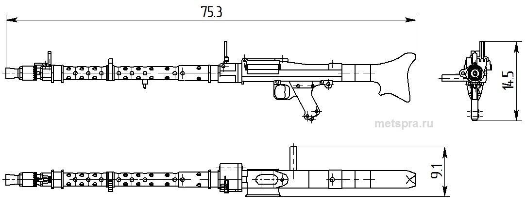MG-34 габариты
